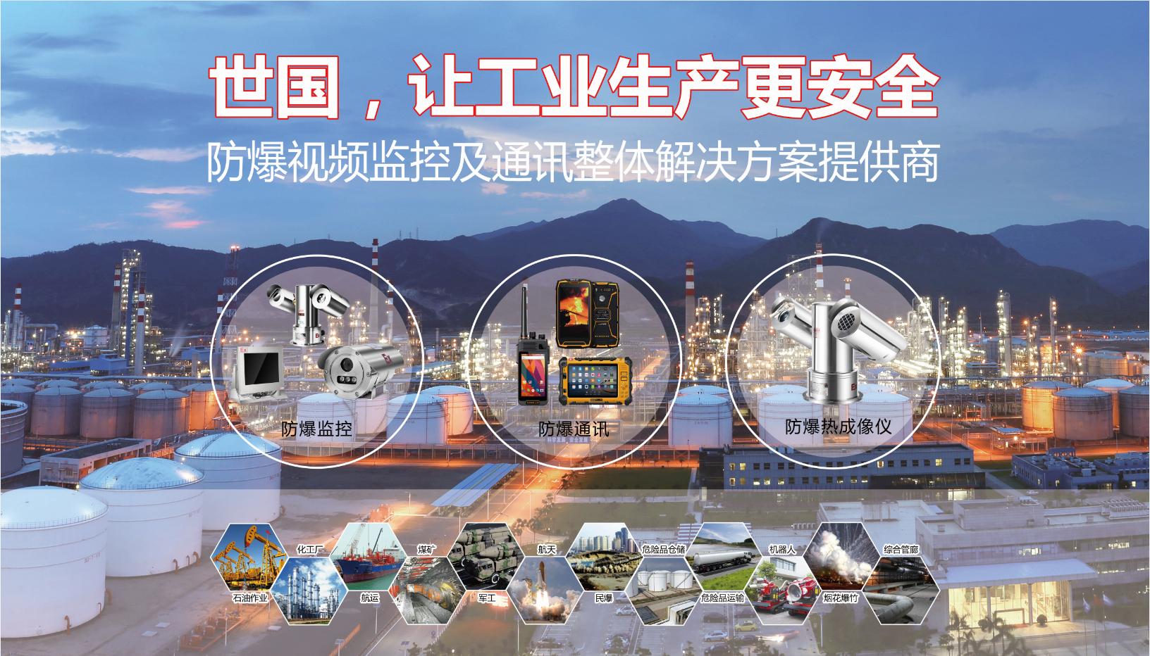世国科技防爆监控专家,专注防爆监控领域,亚洲城,防爆摄像头, 车载亚洲城,防爆红外热像仪, 防爆护罩等
